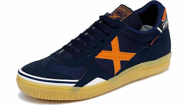 ♦ MUNICH GRESCA12 Navy / Orange / Munich Futsal shoes
