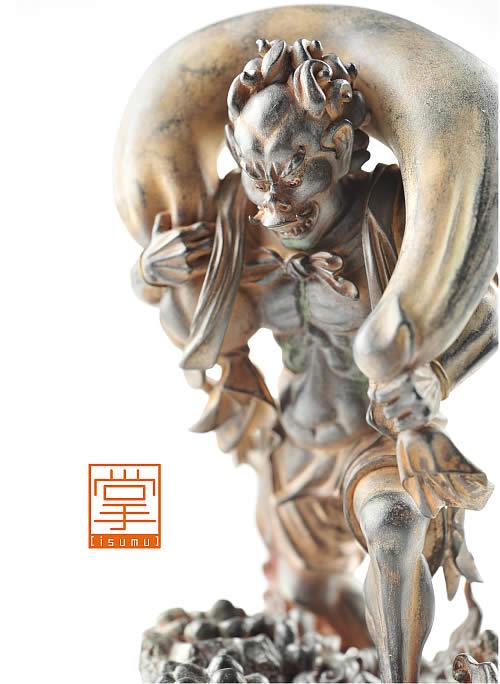 仏像 フィギュア イSム ( イスム ) 風神 (ふうじん) イSム ( イスム ) TanaCOCORO [掌] たなこころ 仏像 フィギュア イスム いすむ インテリア仏像 仏像ワールド 送料無料
