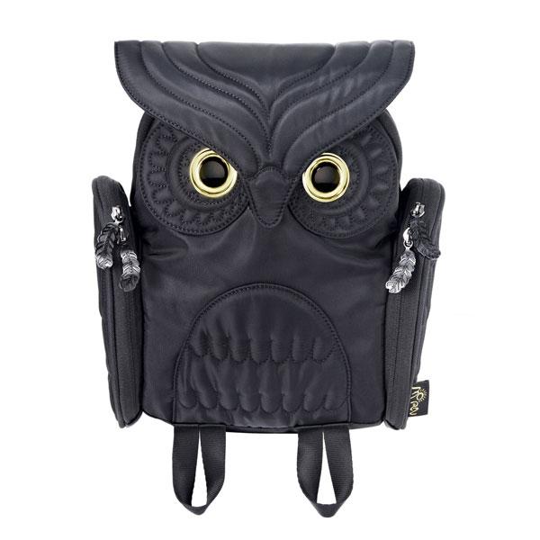 【 モーンクリエイションズ 】 OW-303 【 S 】【 BLK 】 ミミズククラシック・バックパック MORN CREATIONS Owls ふくろう