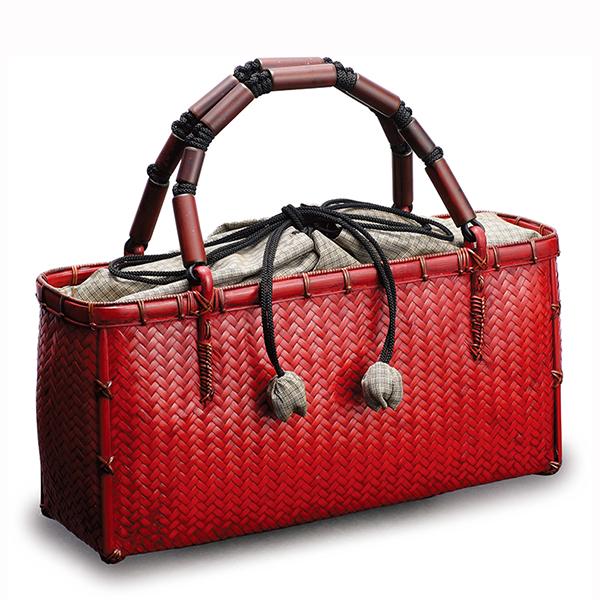 Monomania Mouri Kenichi Wickerwork Weaving Fashion Bags Red
