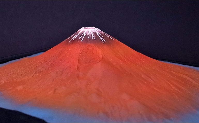 富士山 平成富嶽三十六景 第二景 赤富士 単体モデル