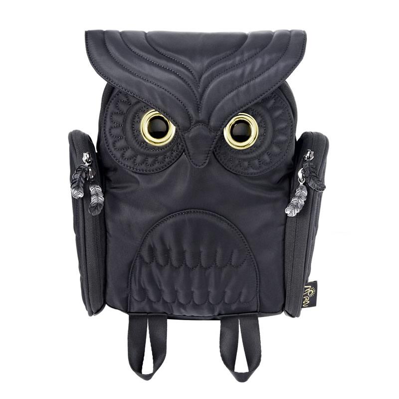 【 モーンクリエイションズ 】 OW-303 【 S 】 【 ブラック 】 ミミズククラシック・バックパック MORN CREATIONS Owls ふくろう