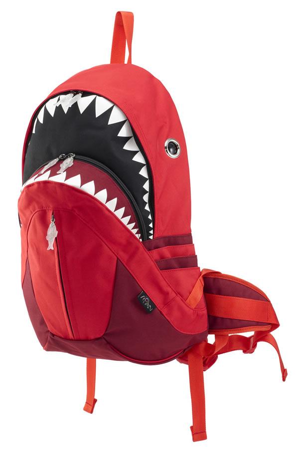 シャークバックパック レイン RED sk-228_red モーンクリエイションズ MORN CREATIONS