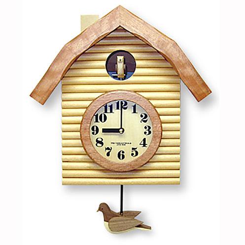 手づくり 振り子ハト時計 ナチュラル 650NA-QL 日本製/ 壁掛け インテリア 掛け時計