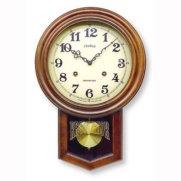 ★ Japan-made antique radio controlled pendulum clock (round) DQL623