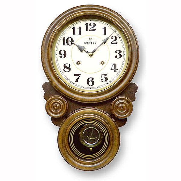 ボンボン式 振り子時計 だるま型 アラビア数字 687-QL 日本製/ 壁掛け インテリア 掛け時計 ボンボン時計