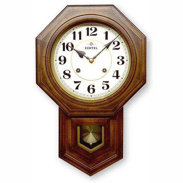 ボンボン式 振り子時計(八角) アラビア数字 688-QL 日本製/ 壁掛け インテリア 掛け時計 ボンボン時計