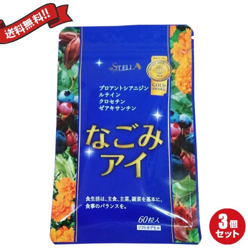 【お年玉ポイント5倍】ステラ漢方 和 なごみアイ 60粒 3袋セット