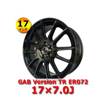 GAB Version TR ER072 17×7.0J 5H PCD100 IN48 17インチ 新品 アルミホイール 1本 装着可能車種:トヨタ/86・アベンシス・ウィッシュ・プリウス・SUBARU・インプレッサ・インプレッサワゴン・エクシーガ・フォレスター・レガシィ
