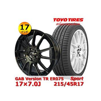 【トーヨー Sport 215/45R17インチ】【GAB Version TR ER075 17×7.0J +54 5H 114.3】ノア・ヴォクシー・アコード・インテグラ・セレナ・アテンザ タイヤ&ホイール 17インチ 4本セット