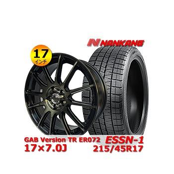 【ナンカン ESSN-1 215/45R17インチ】【GAB Version TR ER072 17×7.0J +48 5H 100】トヨタ/86・プリウス・ウィッシュ タイヤ&ホイール 17インチ 4本セット