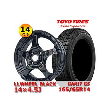 新品 TOYO GARIT G5 165 65R14 中古 LL BLACK 14×4.5J 直輸入品激安 2019年製 100 4H 人気商品 タイヤホイール14インチ4本セット 冬タイヤ +45 タイヤホイールセット 65R14インチ