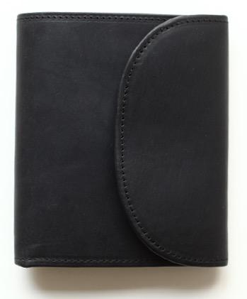 Whitehouse Cox 『ホワイトハウスコックス』SETTLER 『セトラー』 正規取扱店 ミニ3つ折りウォレット OW-1058-Small 3 Fold Wallet-Black