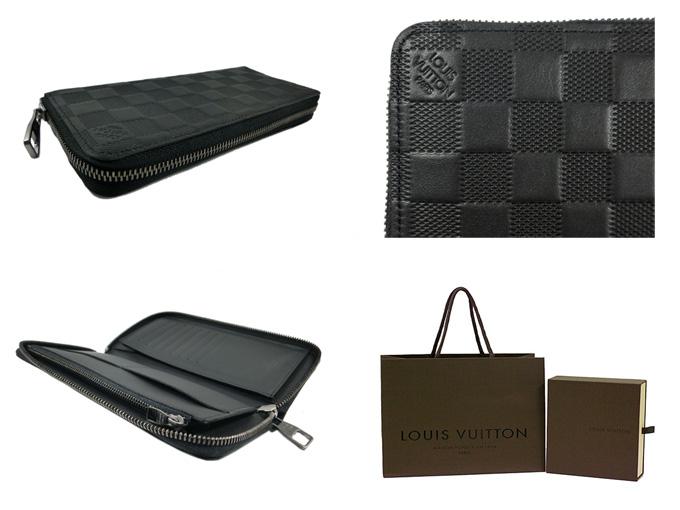 timeless design 4398f fc2f8 Louis Vuitton Louis Vuitton wallet mens zipper wallet, vertical  Damier-Infini Onyx N63548 brand new genuine paper bag with
