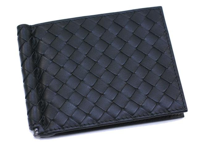 ボッテガ ヴェネタ マネークリップ 2つ折財布 メンズ レザー ブラック 123180 V4651 1000
