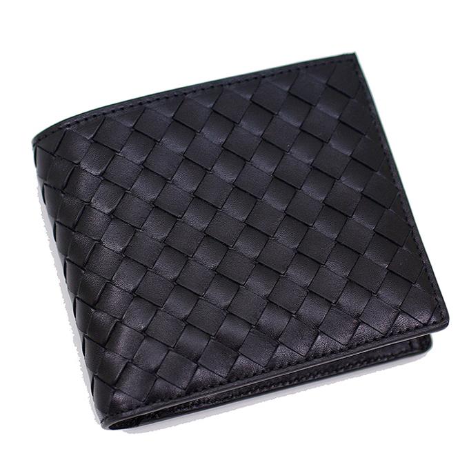 ボッテガヴェネタ 財布 BOTTEGA VENETA 二つ折り財布 メンズ レザー 牛革 / ブラック 193642 V4651 1000