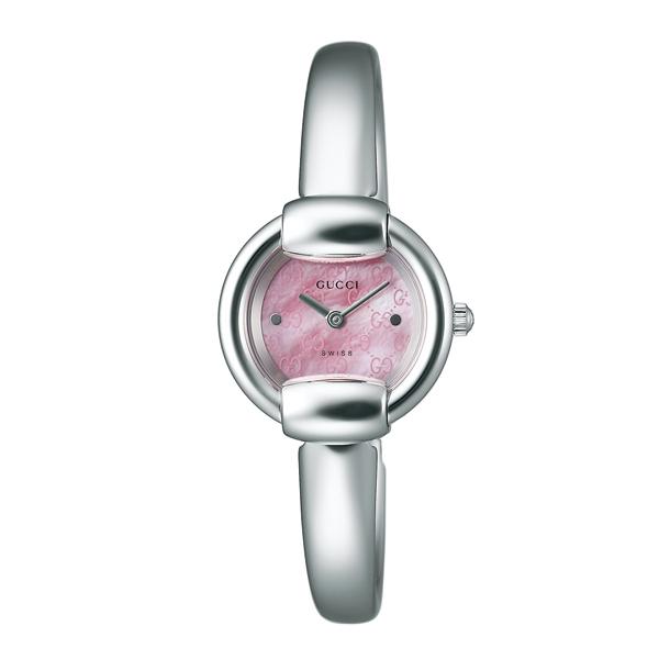 グッチ 腕時計 GUCCI 時計 レディース バングルタイプ / ピンクシェル YA014513