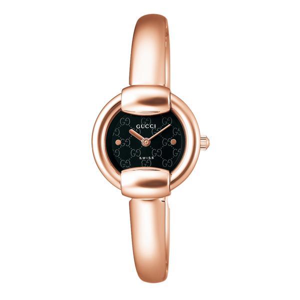 グッチ 腕時計 GUCCI 時計 レディース バングルタイプ / ブラック YA014517