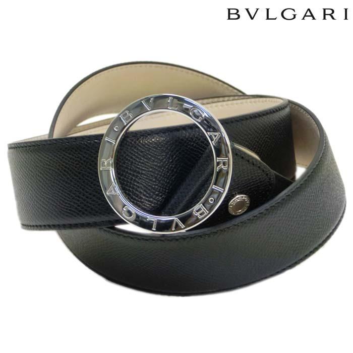 9b99347f25fd 【メンズ】 37890 BLACK ブラック ブルガリブルガリ レザーベルト ブルガリ BVLGARI メンズ
