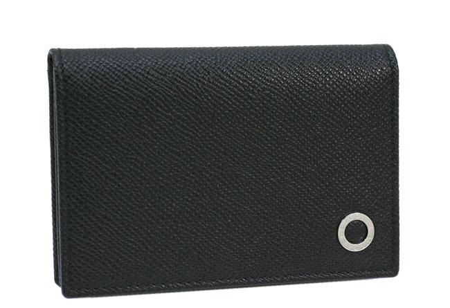 ブルガリ 名刺入れ BVLGARI カードケース 革 グレインレザー ブラック 30400 新品 送料無料