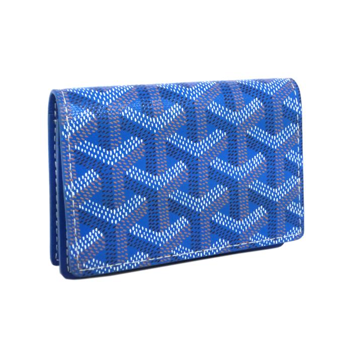 ゴヤール 名刺入れ カードケース パスケース GOYARD ブルー APM 421 10 新品 送料無料