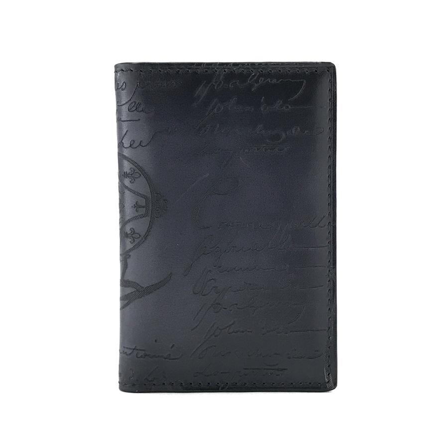 ベルルッティ カードケース Berluti 名刺入れ カリグラフィー ジャグア JAGUA レザー ブラック NERO パティーヌカード付
