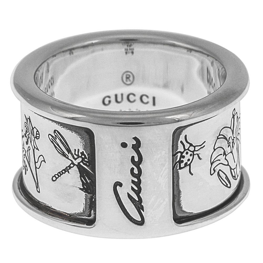 グッチ GUCCI 指輪 リング メンズ レディース アクセサリー フローラ シルバー 325910 J8400 0701