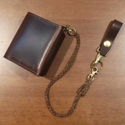 C15AN-R-ダークブラウン-C15AN二つ折り財布ロープ付-C15ANR-黒羽(CROW:クロウ)-ハーフウォレット(ショートウォレット:二つ折り財布)【送料無料】【smtb-tk】