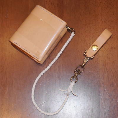 C15AN-R-ナチュラル-C15AN二つ折り財布ロープ付-C15ANR-黒羽(CROW:クロウ)-ハーフウォレット(ショートウォレット:二つ折り財布)【送料無料】【smtb-tk】
