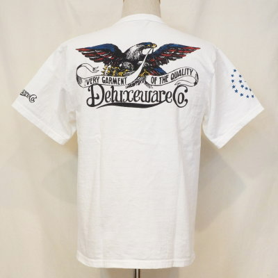 BRG-09B-ホワイト-ブランドロゴTシャツ09B-BRG09B-DELUXEWARE-デラックスウエアTシャツ【送料無料】【smtb-tk】