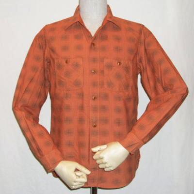LV-02-オレンジ-ビエラチェックシャツ長袖-LV02-DELUXEWARE-デラックスウエアネルシャツ【送料無料】【smtb-tk】