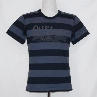 BT-0803-CHAxBK-ボーダーTシャツ0803-BT0803-FLATHEAD-フラットヘッドTシャツ【送料無料】【smtb-tk】