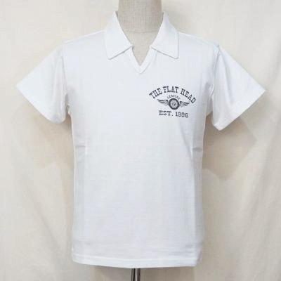 F-PS-101-WH-スキッパーポロシャツ101-FPS101-FLATHEAD-フラットヘッドTシャツ-フラットヘッドポロシャツ【送料無料】【smtb-tk】