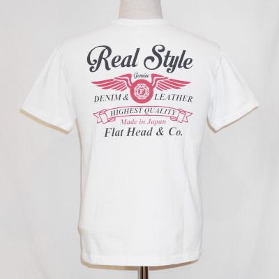 FVT-05W-ホワイト-FVTフラットロックTシャツ05-FVT05W-FLATHEAD-フラットヘッドTシャツ【送料無料】【smtb-tk】