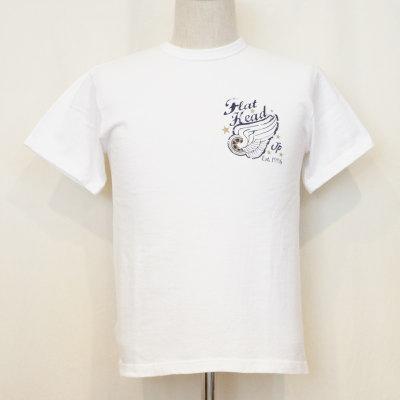 TKT-009-ホワイト-FH JP EST 1996-TKT009-FLATHEAD-フラットヘッドTシャツ-TKT系-半袖Tシャツ【送料無料】【smtb-tk】
