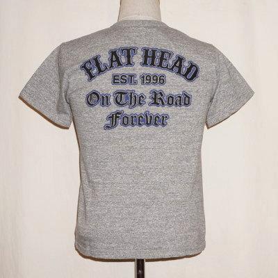 TKT-010-グレー-ON THE ROAD FOREVER-TKT010-FLATHEAD-フラットヘッドTシャツ-TKT系-半袖Tシャツ【送料無料】【smtb-tk】