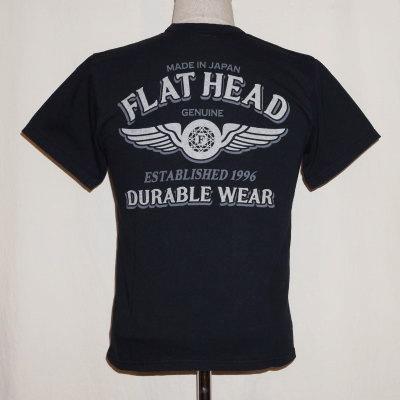 TKT-012-ブラック-DURABLE WEAR-TKT012-FLATHEAD-フラットヘッドTシャツ-TKT系-半袖Tシャツ【送料無料】【smtb-tk】