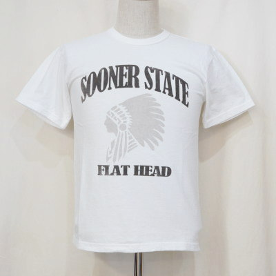 TKT-013-ホワイト-SOONER STATE-TKT013-FLATHEAD-フラットヘッドTシャツ-TKT系-半袖Tシャツ【送料無料】【smtb-tk】