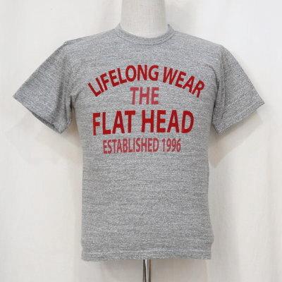 TKT-014-グレー-LIFELONG WEAR-TKT014-FLATHEAD-フラットヘッドTシャツ-TKT系-半袖Tシャツ【送料無料】【smtb-tk】