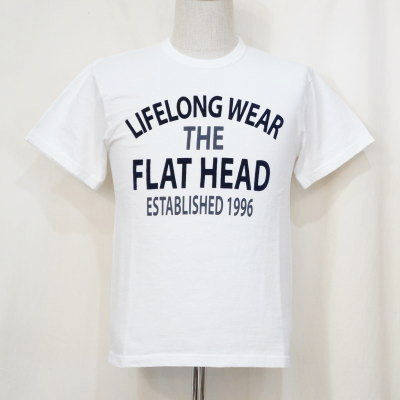 TKT-014-ホワイト-LIFELONG WEAR-TKT014-FLATHEAD-フラットヘッドTシャツ-TKT系-半袖Tシャツ【送料無料】【smtb-tk】