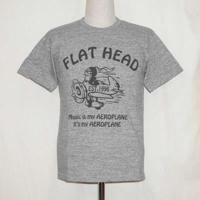 TKT-020-グレー-フラットヘッドTシャツTKT系020-TKT020-FLATHEAD-フラットヘッドTシャツ-TKT系-半袖Tシャツ【送料無料】【smtb-tk】