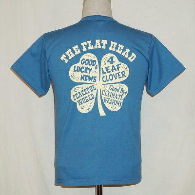TNS-03W-サックスブルー-4 LEAF CLOVER-TNS03W-FLATHEAD-フラットヘッドTシャツ-BLACKMINT-ブラックミントTシャツ【送料無料】【smtb-tk】