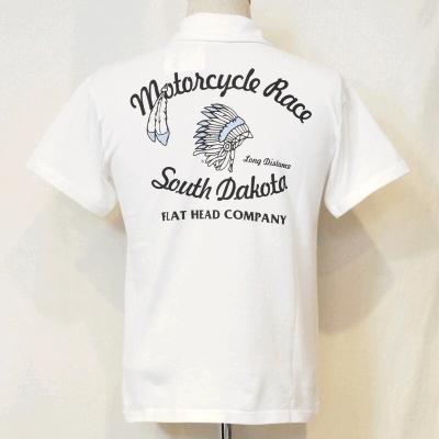 TNV-03W-ホワイト-SOUTH DAKOTA-TNV03W-FLATHEAD-フラットヘッドTシャツ-フラットヘッドポロシャツ-BLACKMINT-ブラックミントTシャツ-ブラックミントポロシャツ【送料無料】【smtb-tk】