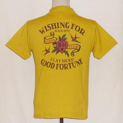 TNV-06W-マスタード-WISHING FOR-TNV06W-FLATHEAD-フラットヘッドTシャツ-フラットヘッドポロシャツ-BLACKMINT-ブラックミントTシャツ-ブラックミントポロシャツ【送料無料】【smtb-tk】