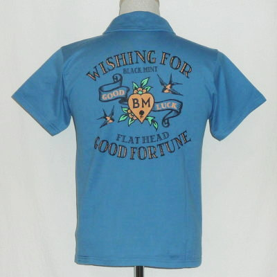 TNV-06W-サックスブルー-WISHING FOR-TNV06W-FLATHEAD-フラットヘッドTシャツ-フラットヘッドポロシャツ-BLACKMINT-ブラックミントTシャツ-ブラックミントポロシャツ【送料無料】【smtb-tk】