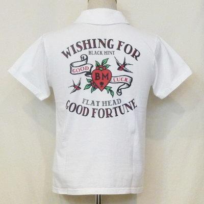 TNV-06W-ホワイト-WISHING FOR-TNV06W-FLATHEAD-フラットヘッドTシャツ-フラットヘッドポロシャツ-BLACKMINT-ブラックミントTシャツ-ブラックミントポロシャツ【送料無料】【smtb-tk】