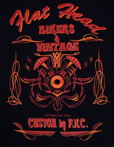 THC-11W-블랙-BIKERS&VINTAGE-THC11W-FLATHEAD-나비 T 셔츠