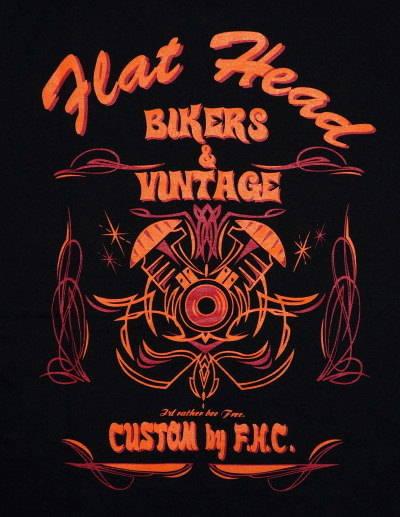 THC-11W-블랙 14-BIKERS&VINTAGE-THC11W-FLATHEAD-나비 T 셔츠