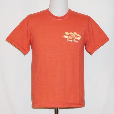 THC-144 W-라이트 레드-GROOVY BUNNY-THC144W-FLATHEAD-플랫 헤드 T셔츠