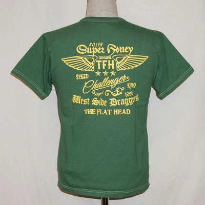 THC-151W-グリーン-SUPER HONEY-THC151W-FLATHEAD-フラットヘッドTシャツ【送料無料】【smtb-tk】